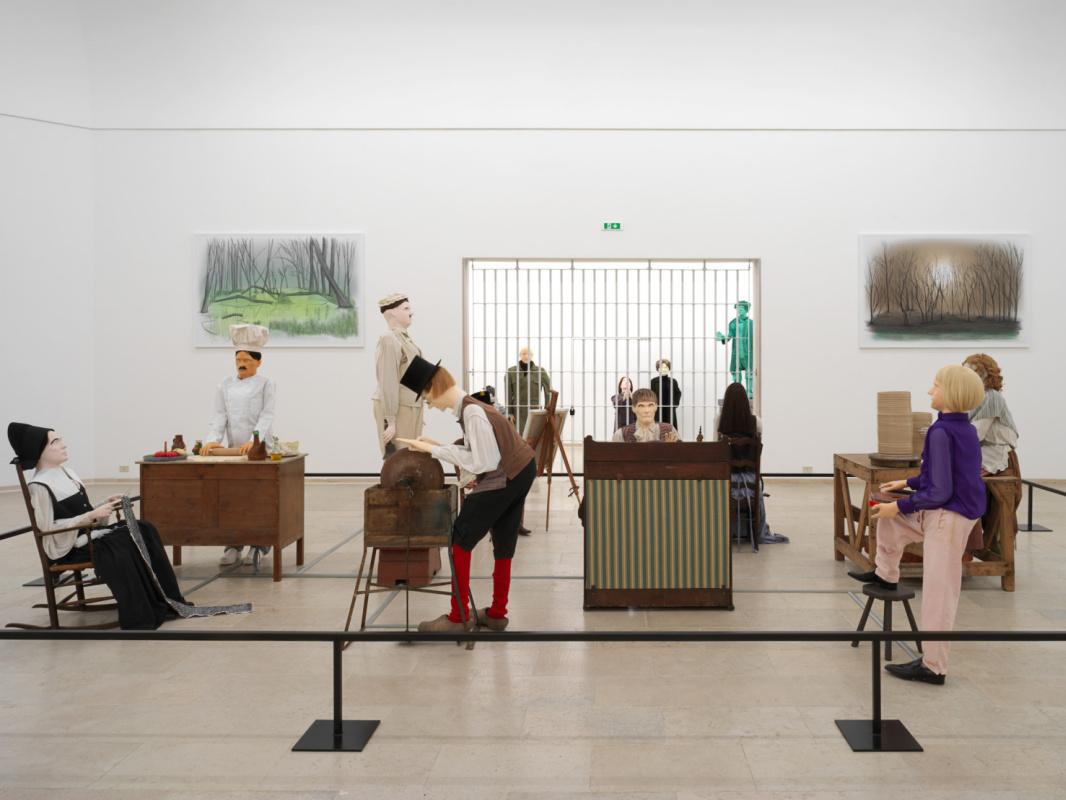Экспозиция павильона Бельгии Mondo Cane, которую создалиЖос де Грюйтер и Харальд Тис, отражает сост