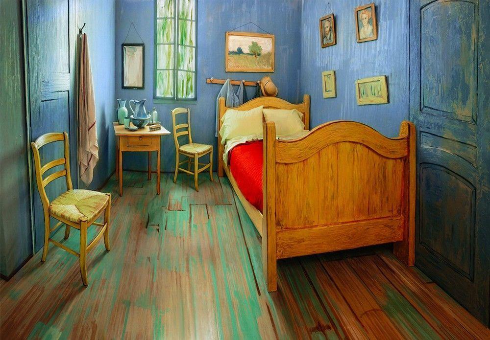 «Спальня Ван Гога» может принять одновременно двух гостей. Фото: thisiscolossal.com