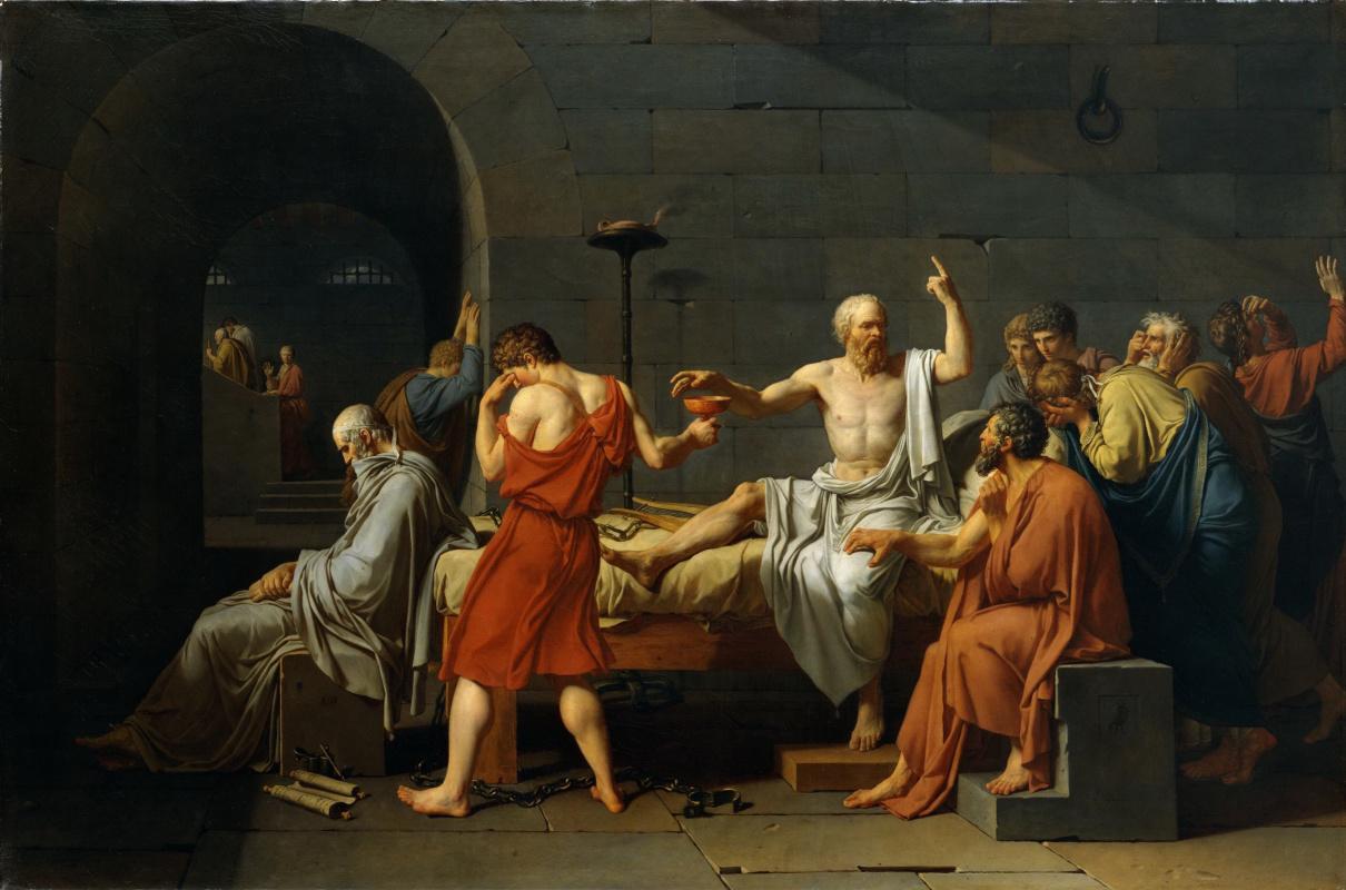 Jacques-Louis David. The Death of Socrates, 1787