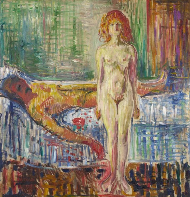Эдвард Мунк,«Смерть Марата» (1907)