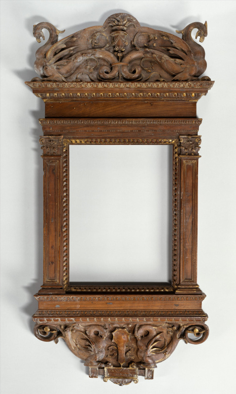 The frame of the tabernacle. Presumably the workshop of Marco and Francesco del Tasso, ca. 1530. Wal