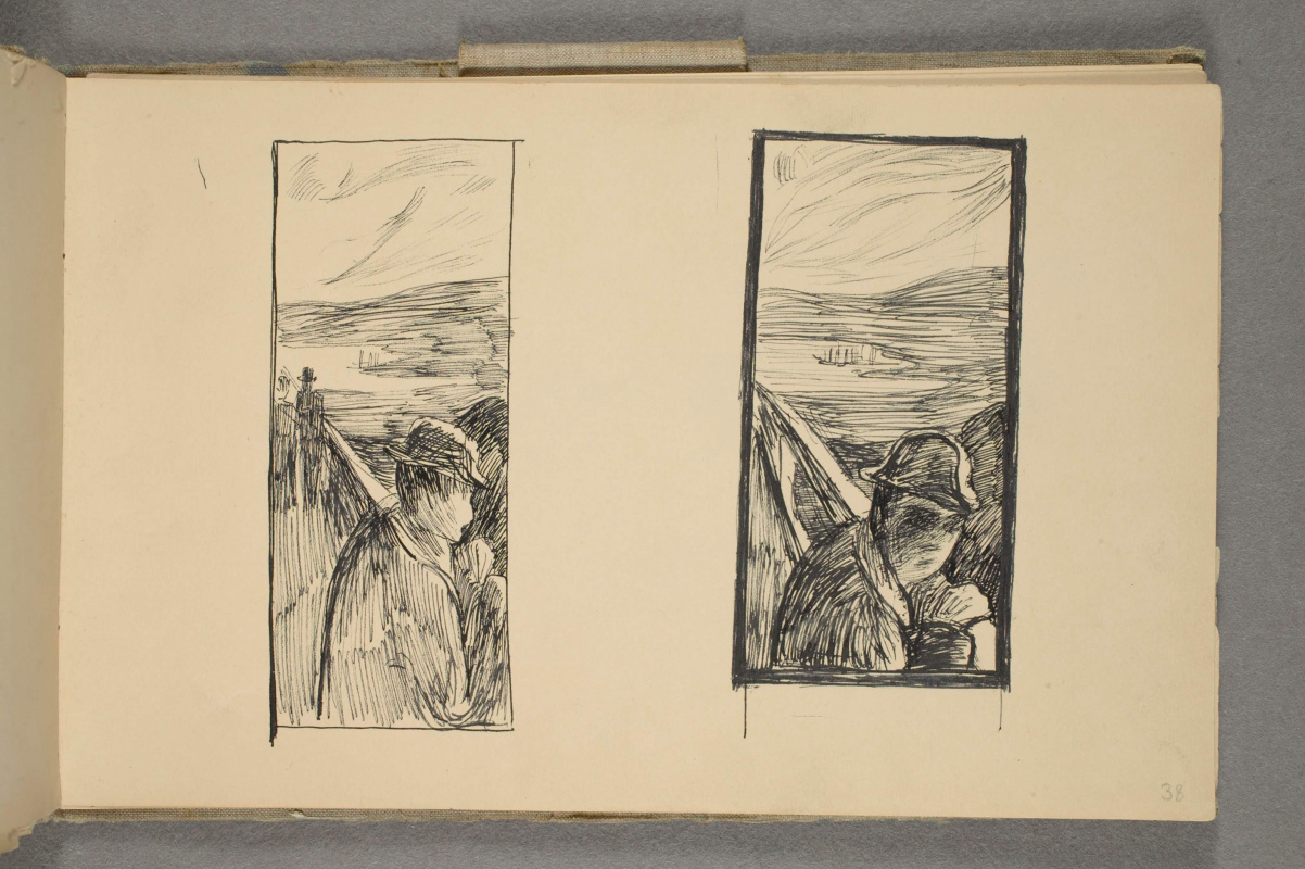 """Another universe of Edvard Munch: newly-released Munch original drawings, especially """"The Scream"""", reveal different look"""
