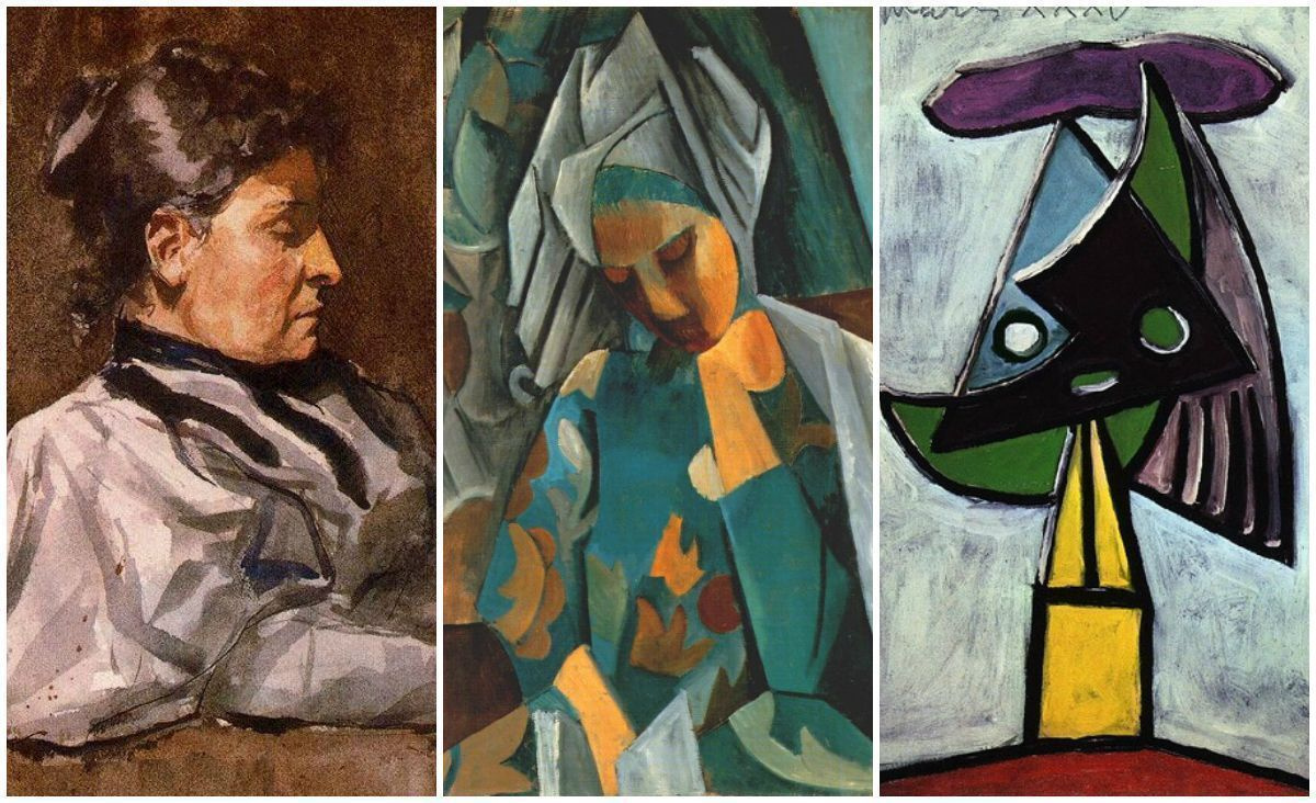 Miracles just around: early works of 15 famous artists with their signature style