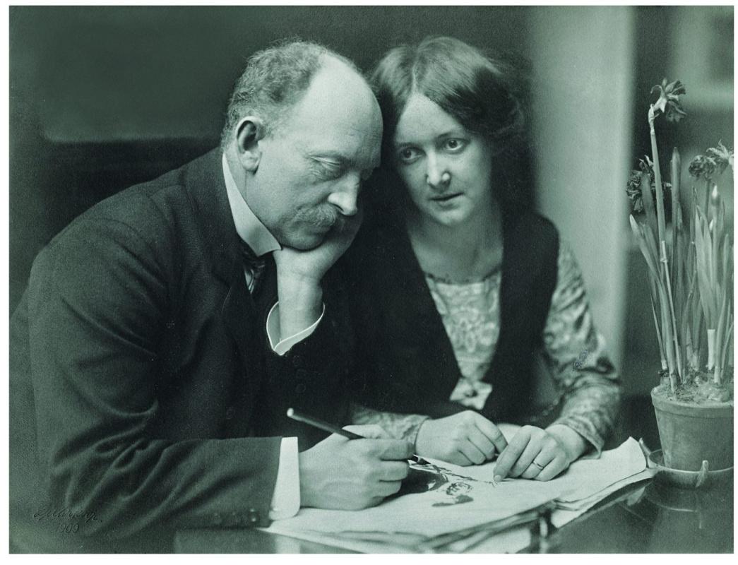 Эмиль Нольде с женой АдойВильструп.