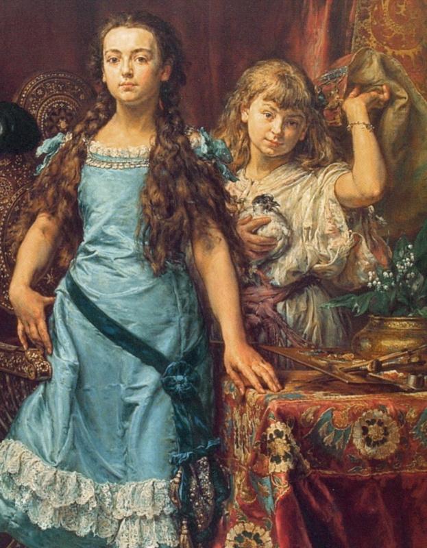 ЯнМатейко«Портрет детей художника», 1879 год. Фрагмент