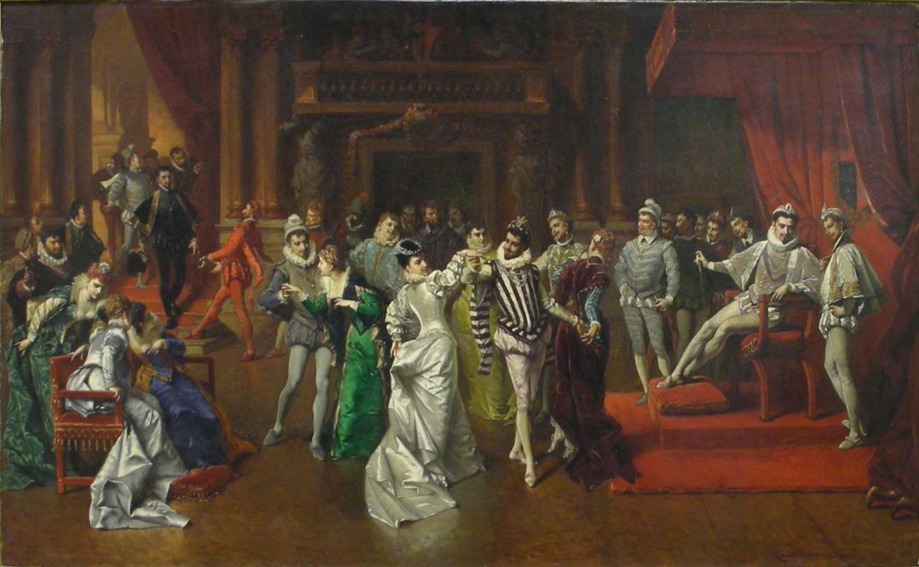 Владислав Бакалович«Бал при французском дворе», конец XIX века,холст,масло