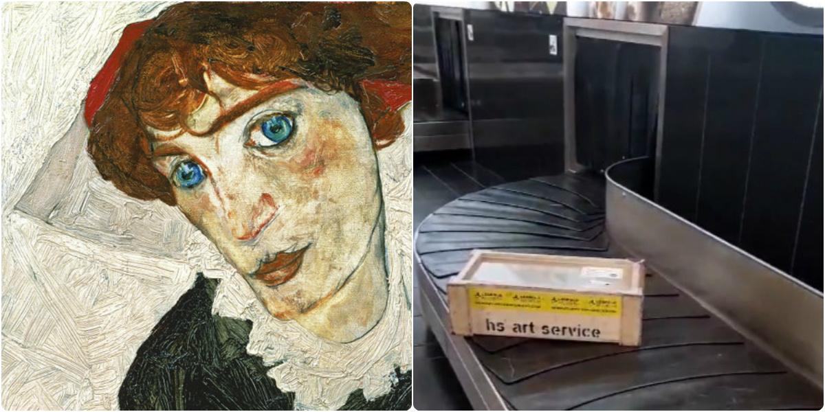 Картина Шиле рядом с чемоданами: Музей Леопольда эпатировал туристов в аэропорту Вены