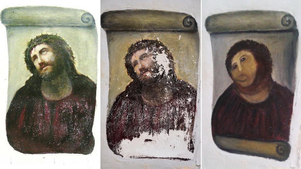 Худшая реставрация в истории искусств  - лучшая новость для родного города!
