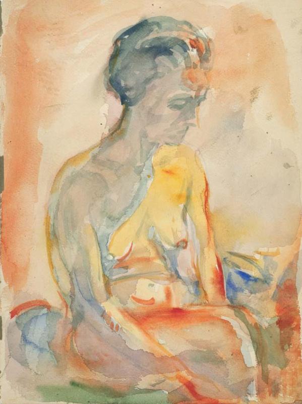 Эдвард Мунк, «Сидящая обнажённая» (1923-33)