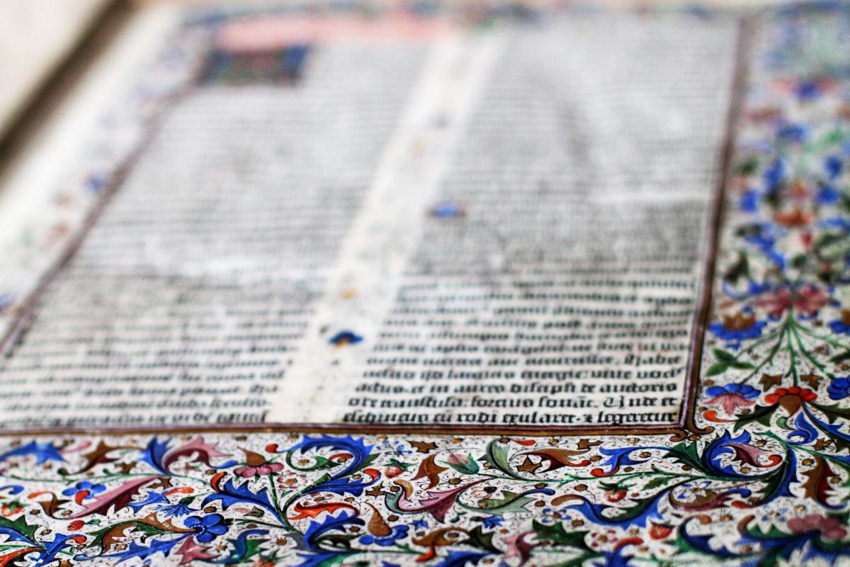 Оригинальную Библию Гутенберга показывают на специальной выставке