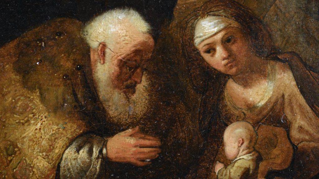 Упавшая со стены картина оказалась произведением Рембрандта
