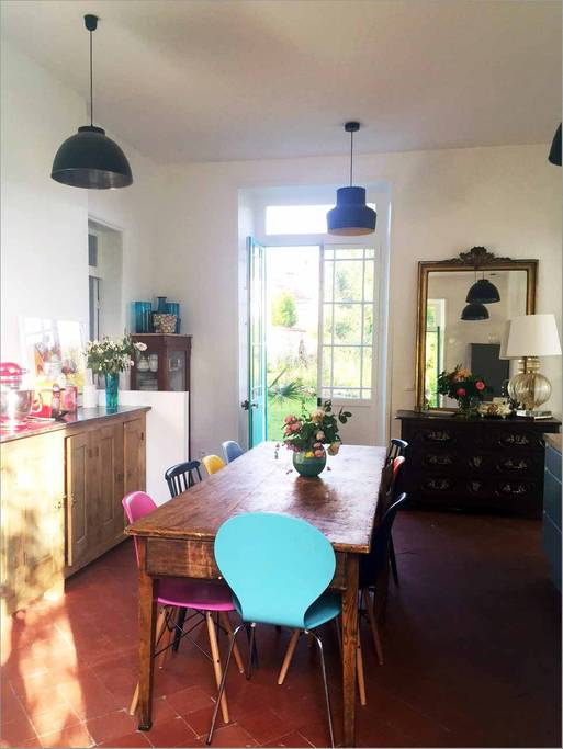 The view, garden and the interiors ofMonet's Blue House inGiverny. Source: airbnb. ie