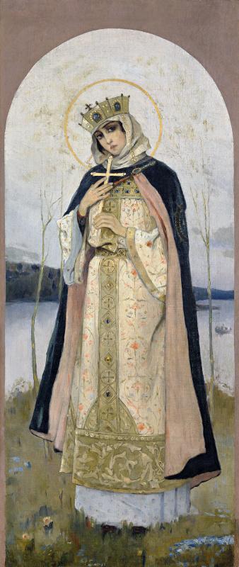 Михаил Нестеров. Святая Ольга. 1892–1893. Собрание А. Е. Стычкина