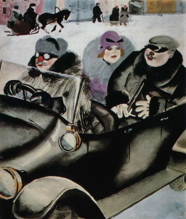 Милая Татьяна, НЭП и французские мотивы: в Москве проходит выставка гения иллюстрации - Константина Рудакова