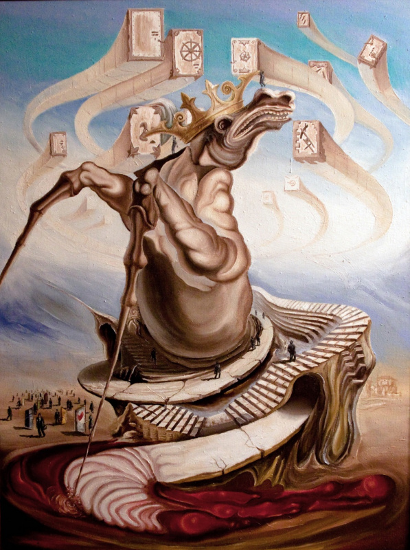 Абсурд-арт Святослава Базюка: в Киеве открылась выставка известного украинского сюрреалиста
