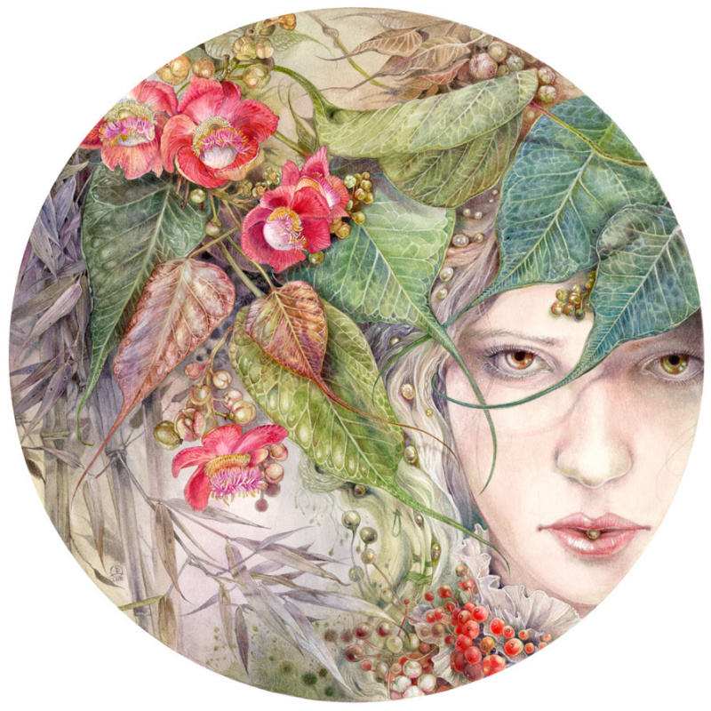Magic, legends and fabulous worlds in Stephanie Law's watercolors