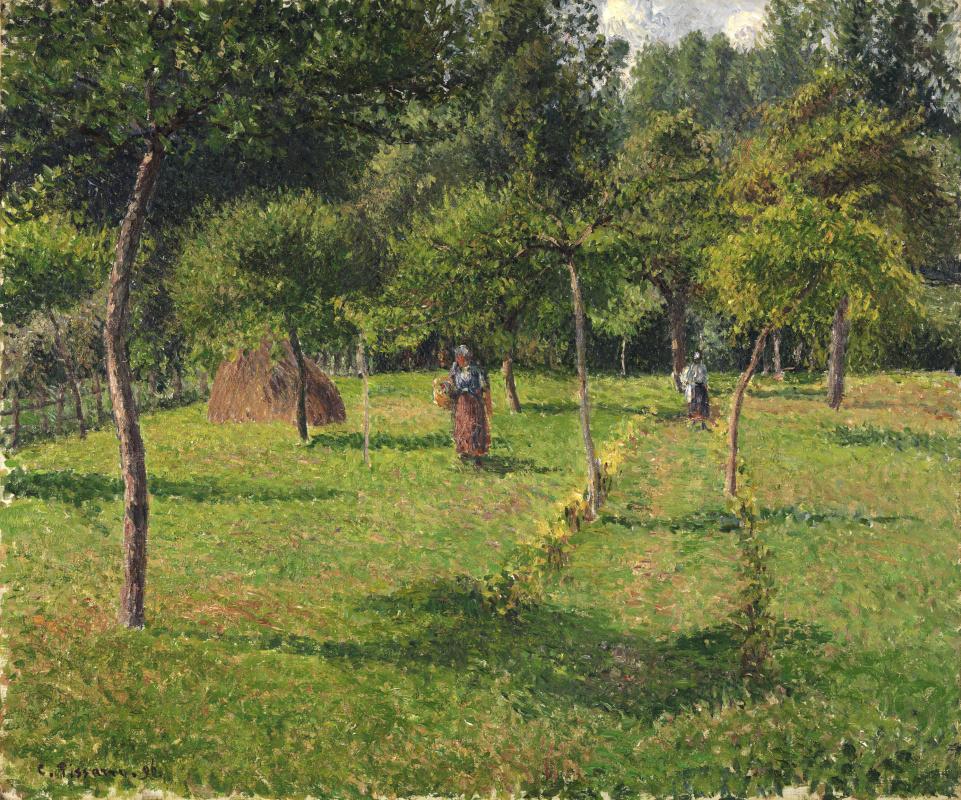 Камиль Писсарро,«Фруктовый сад в Эраньи» (1896)