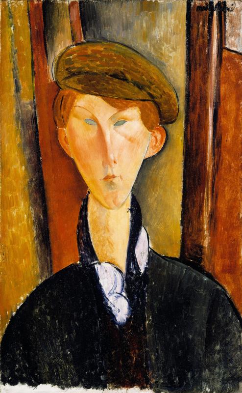 Амедео Модильяни,«Юноша в кепке» (1918). Детройтский институт искусств