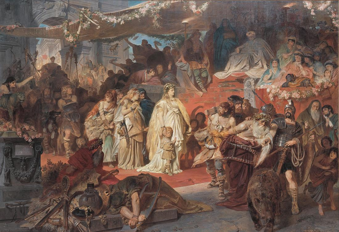 Karl Theodor von Piloty, Thusnelda at the Triumphal Entry of Germanicus into Rome, 1873