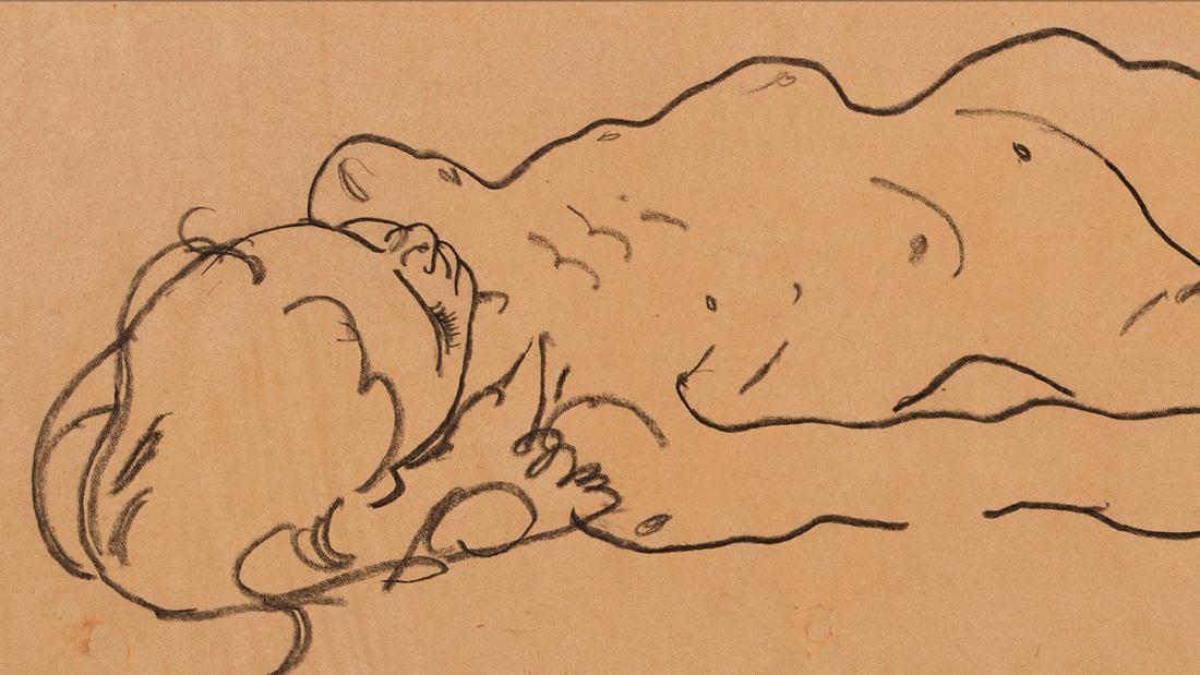 Рисунок Эгона Шиле найден в нью-йоркском секонд-хенде