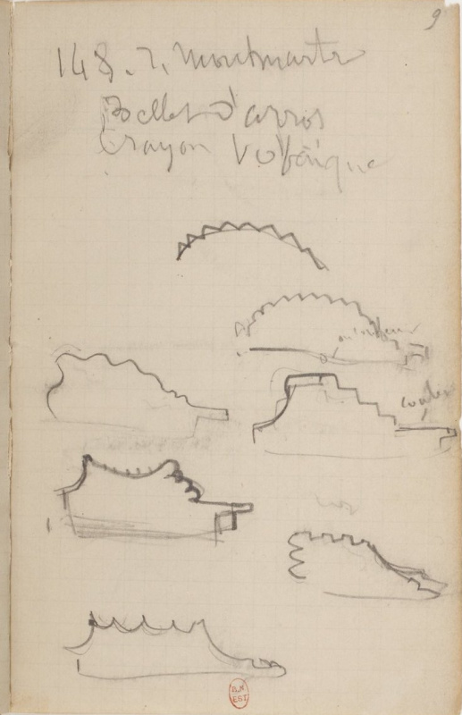 Edgar Degas. Notebook 23, p. 9, 1878—79. National Library of France