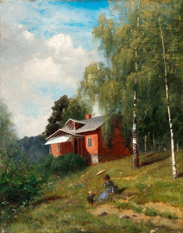 """Мария Вик. """"Летняя идиллия"""". 1875"""