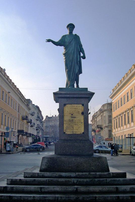 Ivan Martos, the monument to the Duke de Richelieu in Odesa, opened in 1828