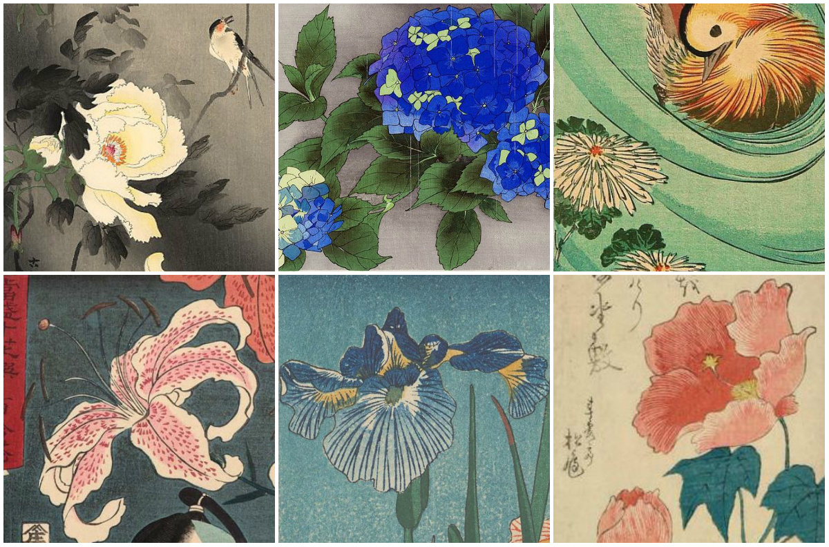 Not only Sakura: the favorite flowers of Japanese artists