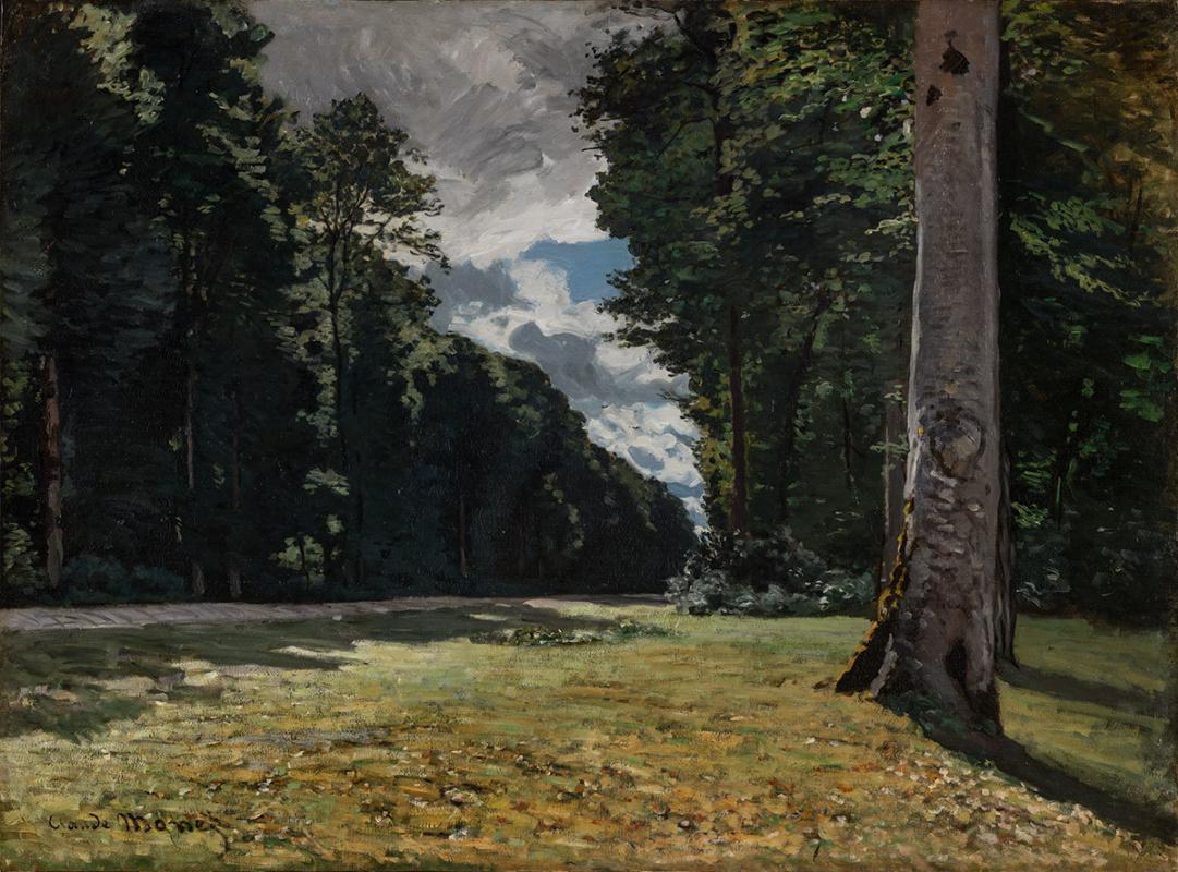 "Клод Моне, ""Дорога через лес Фонтенбло"" (1865)"