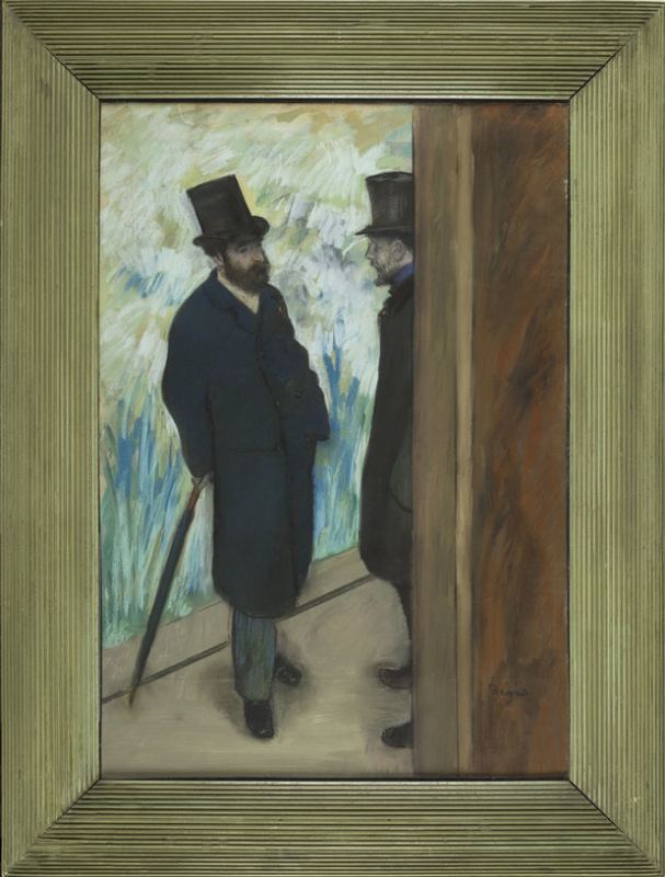 Edgar Degas. Friends at the Theater, Louis Halevy and Albert Cave. 1879