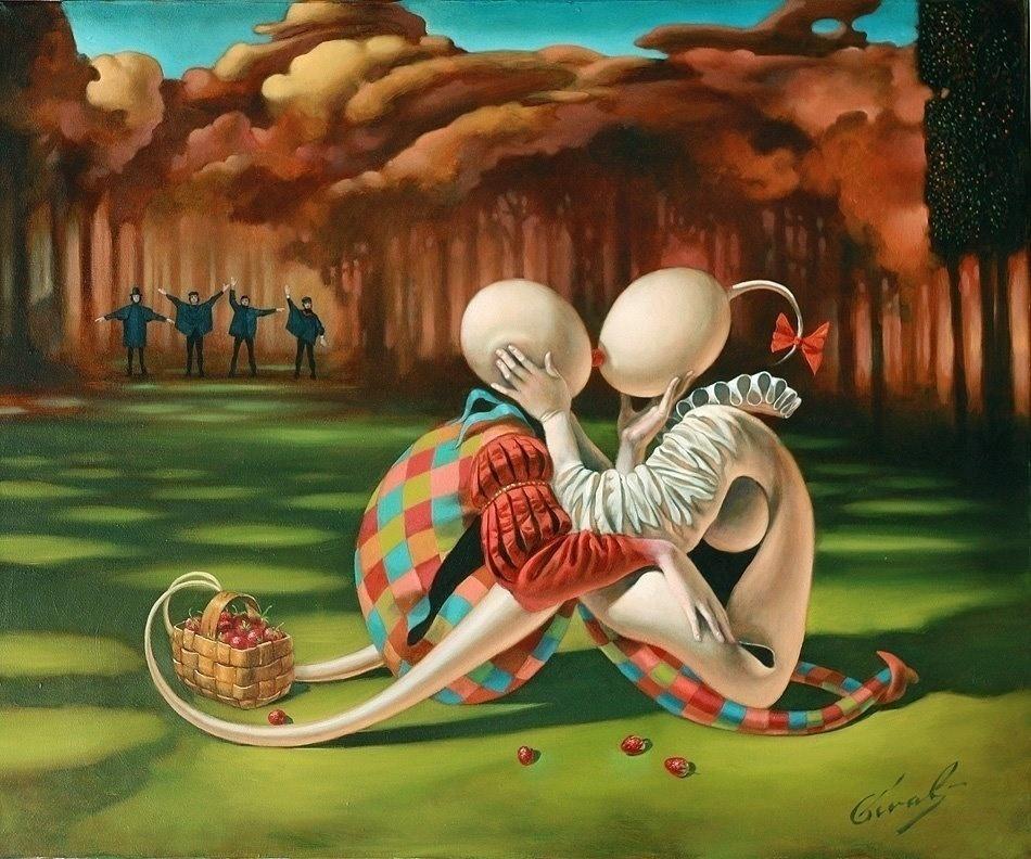 Майкл Шеваль представил новые работы: сюрреализм и... гитары - в Америке