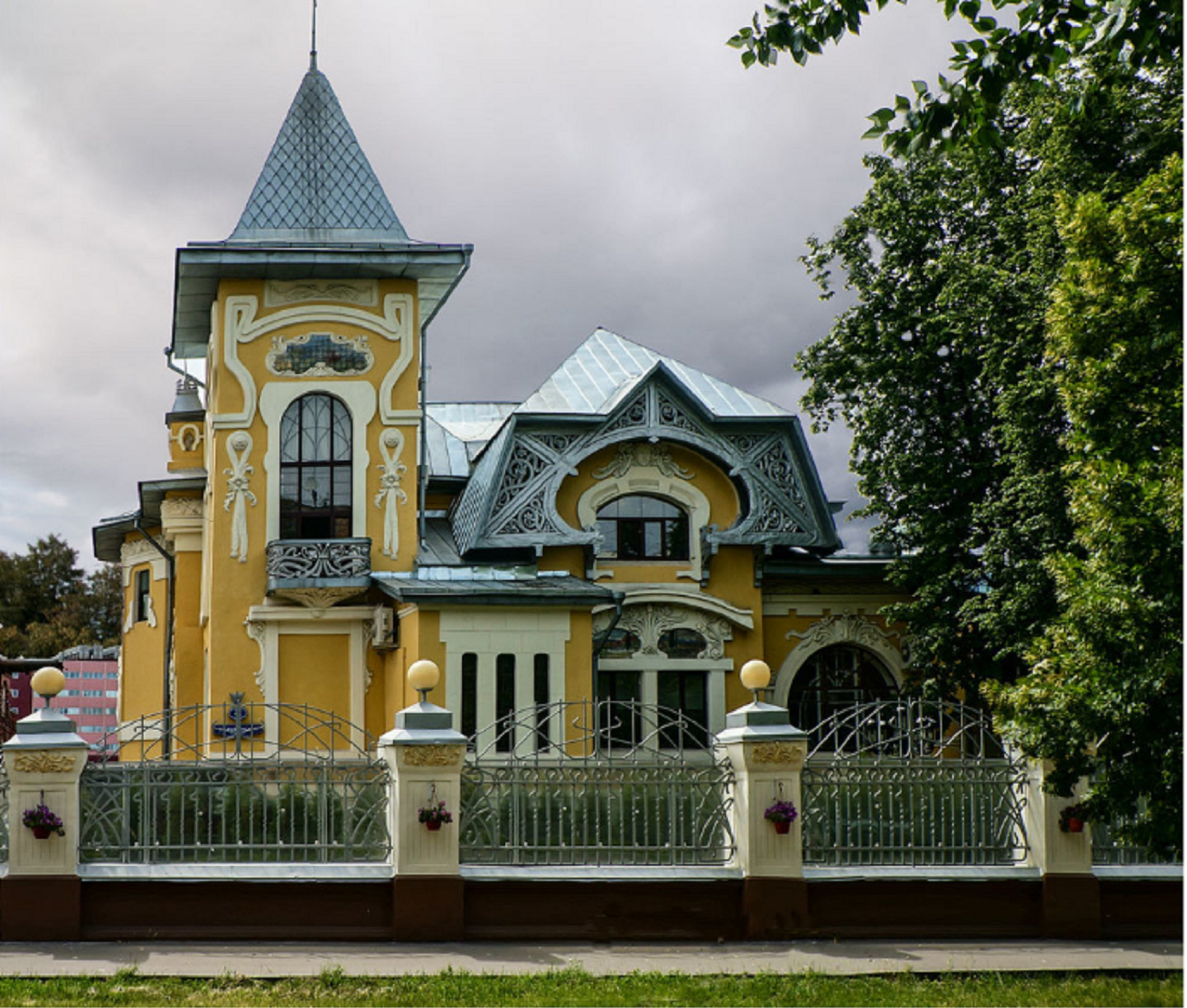 Mansion of I. L. Ding, 1902. Moscow. Architect Alexandr Kalmykov.Photo Source