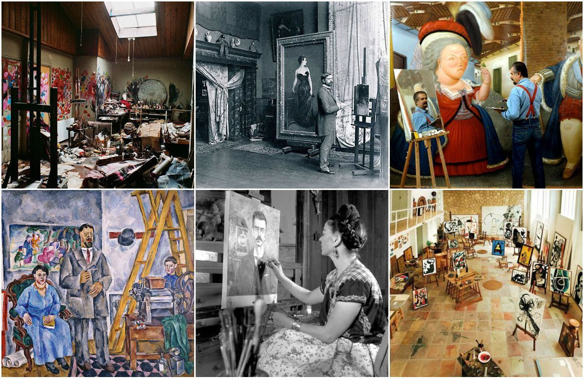 Artists – in the studio! Famous creators in interiors, or Whose creative chaos is closer to you?