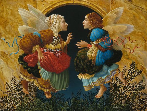 О чем говорят ангелы: дивные крылья на картинах художников прошлого и настоящего