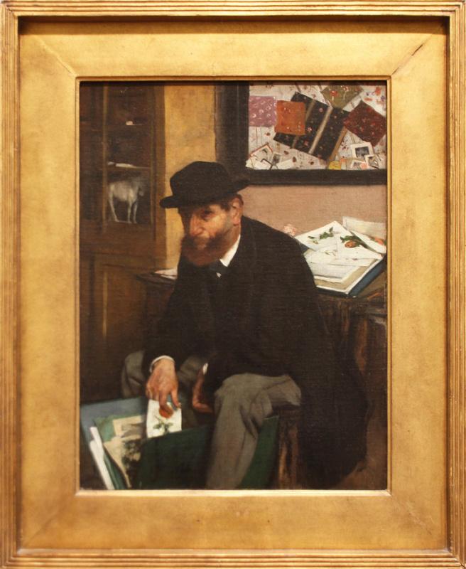 Edgar Degas. The Collector of Prints. 1866