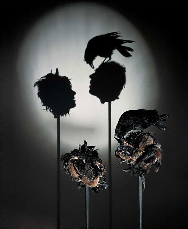 Скульптуры из теней: шедевры из света и хлама покоряют мир