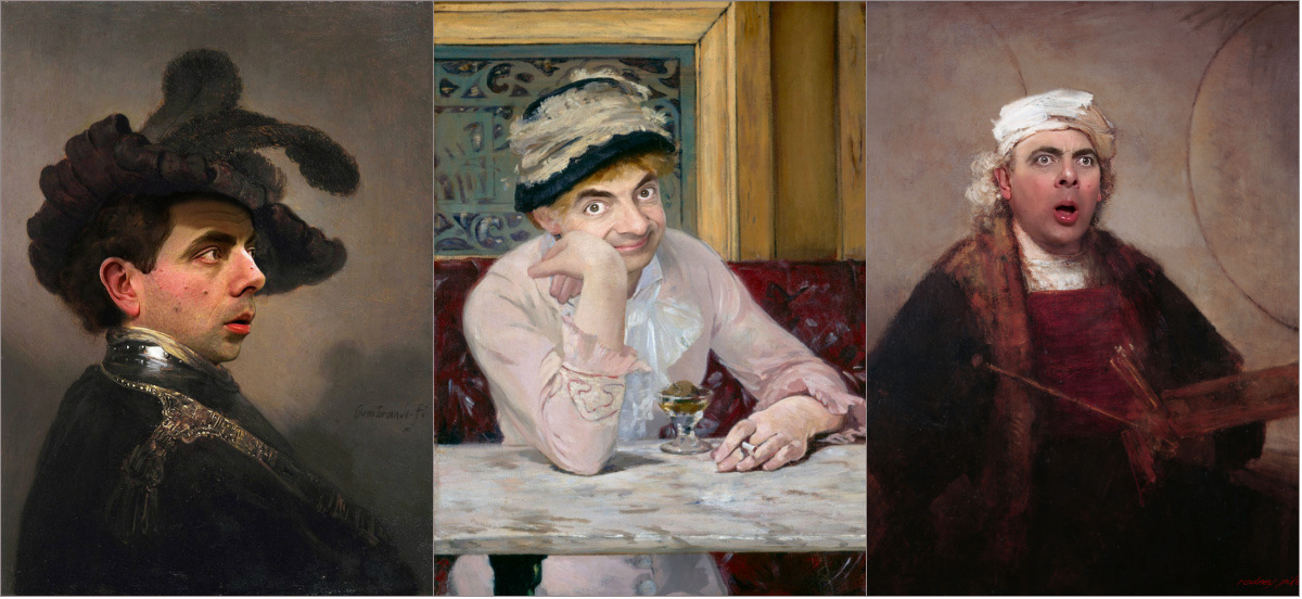 Один за всех: мистер Бин заменил героев известных портретов