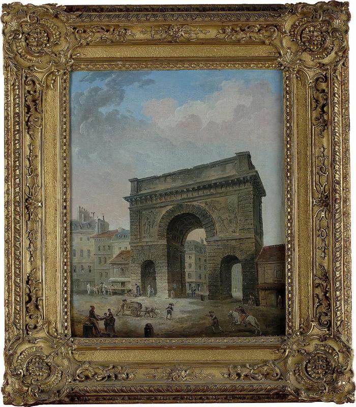 Юбер Робер, «Ворота Сен-Мартен» (ок. 1770)