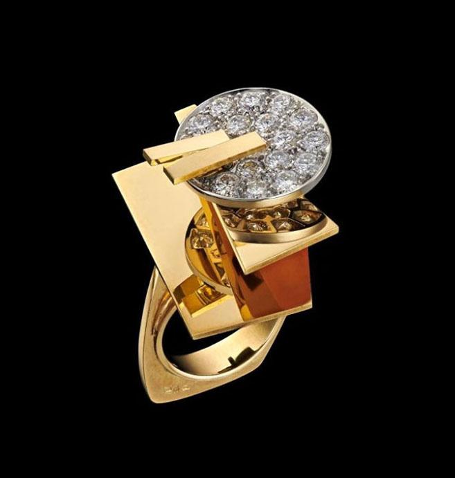 Кольцо Ophiuchus.Надя Леже.Золото, платина, бриллианты. 1970.Музеи Московского Кремля
