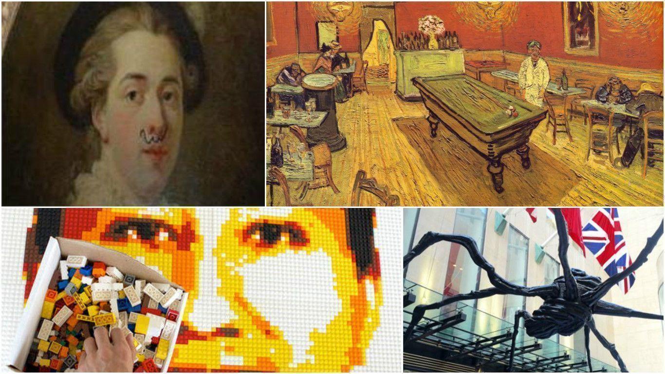 Арт-скандалы: Фрагонар с усами, паук на Christie's и Ван Гог остаётся в Йеле