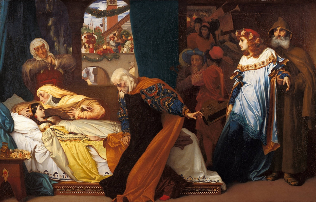 Frederick Leighton, The Feigned Death of Juliet, 1858