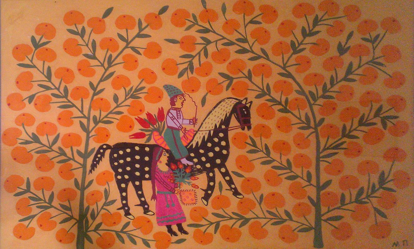 Фантазия и реальность в картинах Марии Примаченко на выставке в Киеве