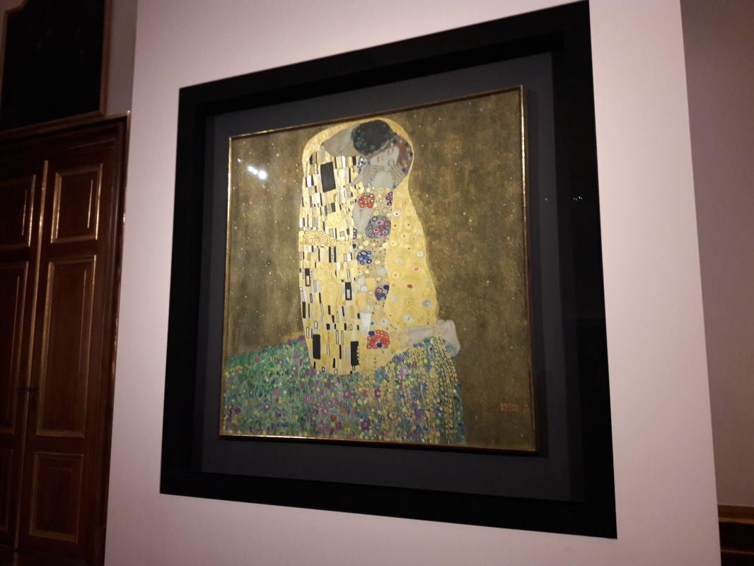 The framing of Gustav Klimt's works in the Österreichische Galerie Belvedere, Vienna