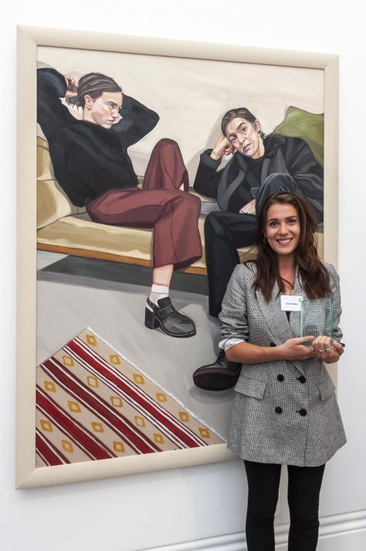 Аниа Хобсон и «Портрет двух художниц».Фото: creativeboom.com