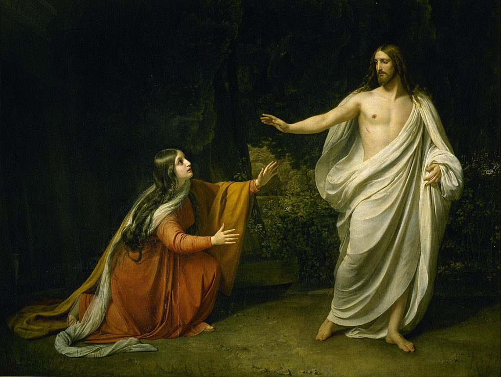 Alexander Ivanov, Christ's Appearance to Mary Magdalene after the Resurrection, 1835