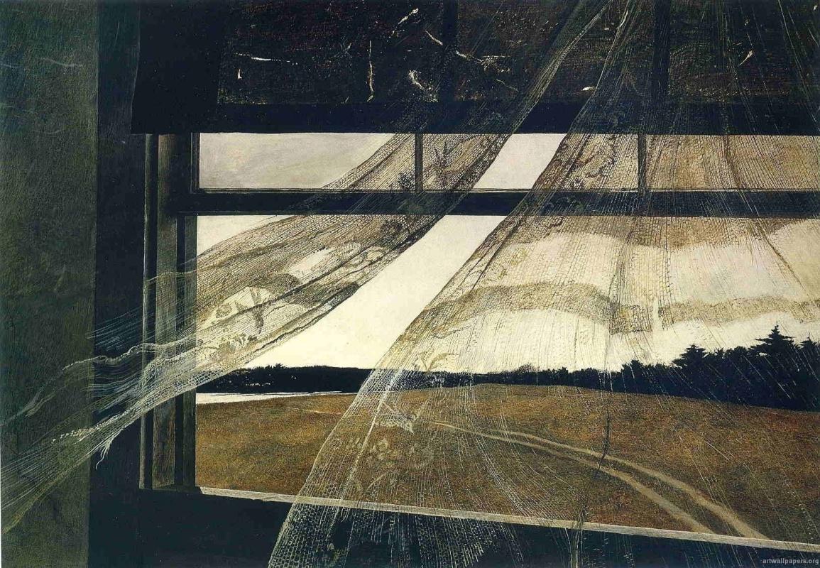 Эндрю Уайет в Национальной галерее Вашингтона: ветер с моря дул