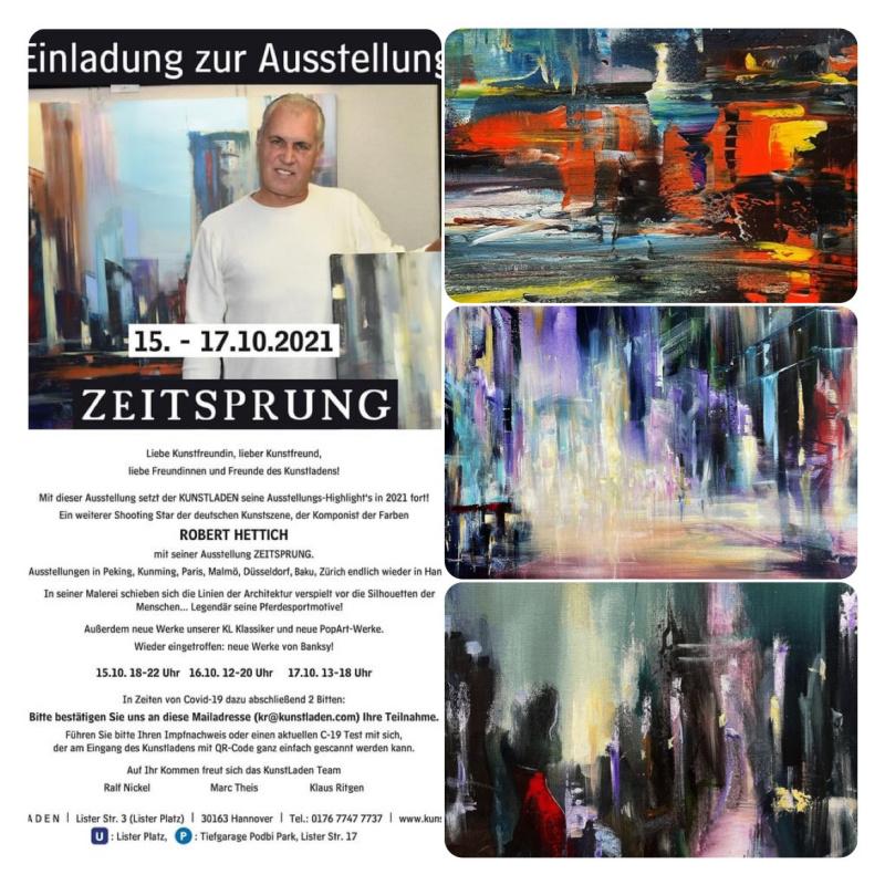 Robert Hettich Einzelausstellung ZEITSPRUNG Hannover
