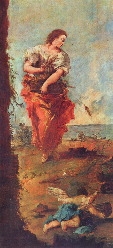 Francesco Guardi. Allegory of hope