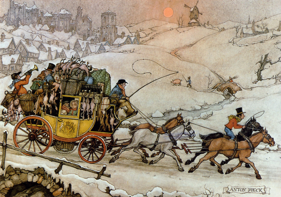 Anton Pieck. Trading day