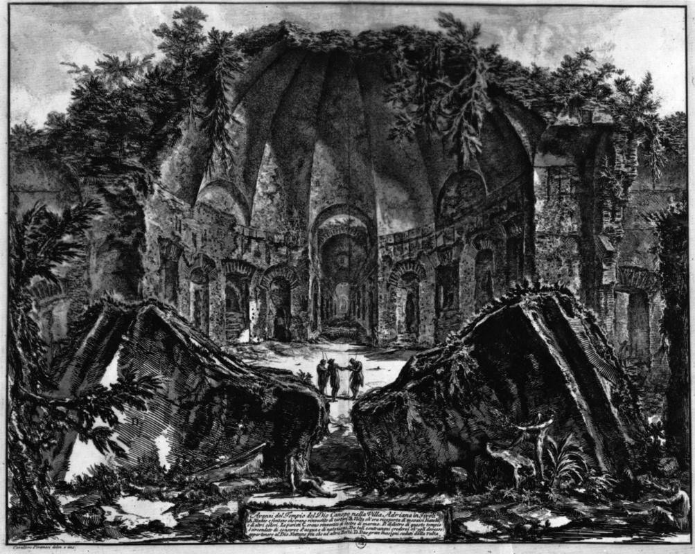 Джованни Баттиста Пиранези. Руины храма Канопуса на вилле Адриана